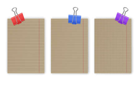 Blank gridded notebook papers for homework and exercises, pads paper sheets with lines and squares for memo