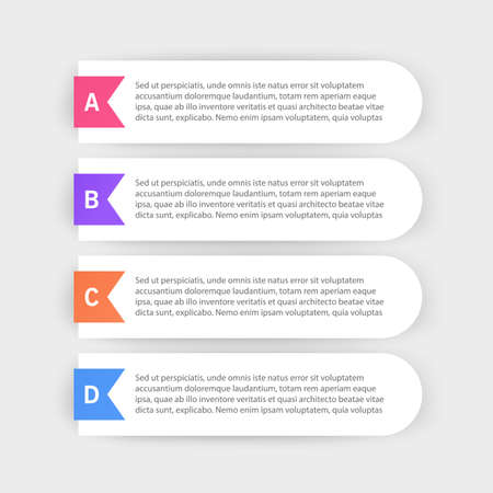 Infographic design template with icons and 4 options or steps. Can be used for process diagram, presentations, workflow layout or banner, Vector illustrations