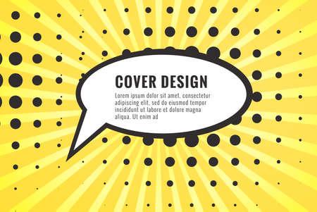 Retro comic empty speech bubble on colorful background, vintage design, pop art style 向量圖像