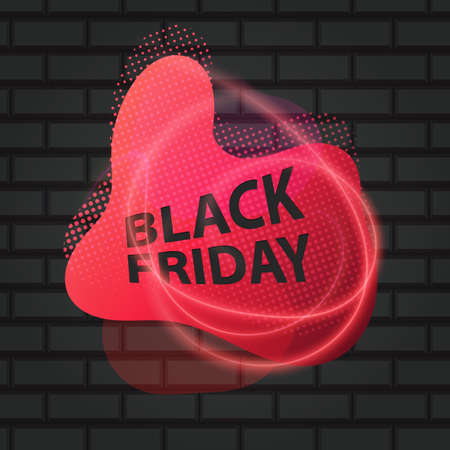 Black Friday Super Sale on a Dark Brick Wall