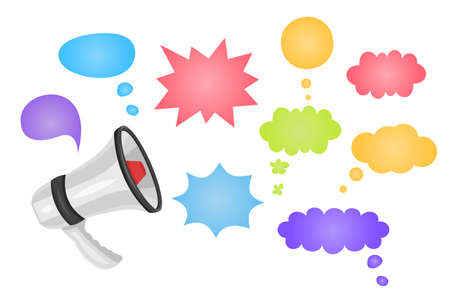 Megaphone with Special Offer speech bubble. Loudspeaker. Special Offer banner for business, promotion and advertising. Vector format