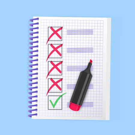Yes and No check marks, Green checkmark OK and red No icons. Symbols, check mark 向量圖像