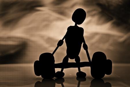 weight lifter: Weight lifter Stock Photo