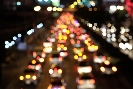 night traffic: Street night traffic blurred Stock Photo