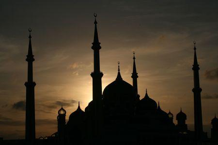 terengganu: Crystal Mosque at sunset, Pulau Wan Man, Kuala Terengganu