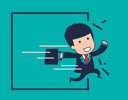 business competition: businessman strong