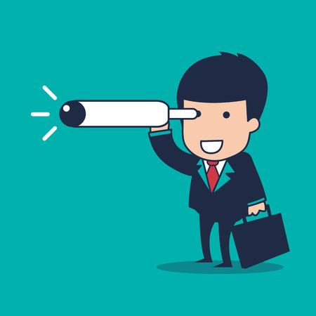 cohesion: businessman vision Illustration