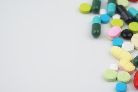 Assorted pharmaceutical medicine pills 免版税图像