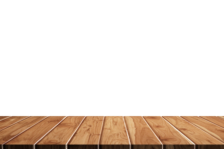 Empty wooden table for product