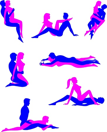 Sex positions 2 Stock Vector - 13420960