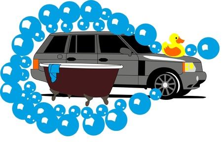 car wash: Car wash and Duck
