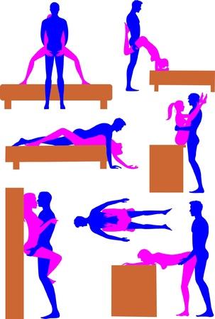 erotic: Sex positions 3 Illustration