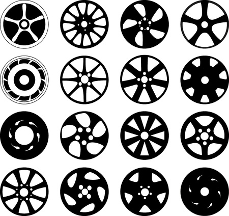 Wheel disks Stock Vector - 14234277