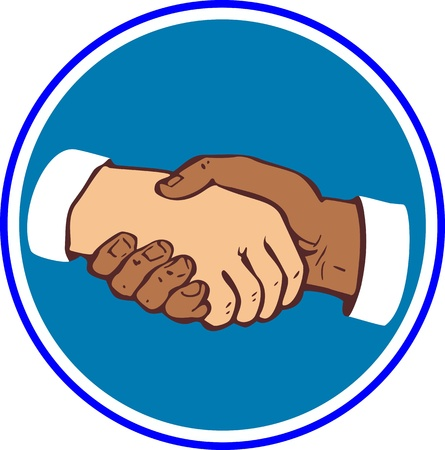dandose la mano: Sacude las manos
