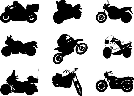 off track: Motocycle Illustration