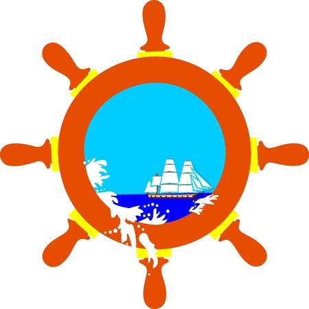 Sea wheel Illustration