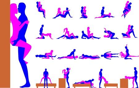 femme sexe: Positions sexuelles Illustration
