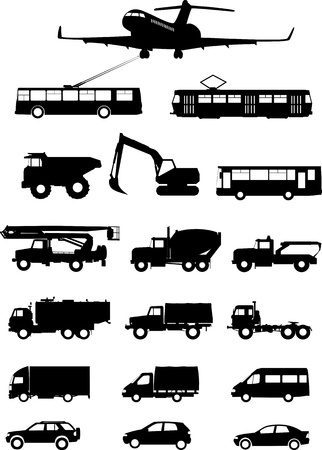 Types of transport Stock Vector - 14234292