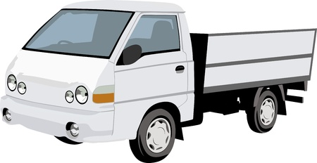 Truck on white Stock Vector - 14234276