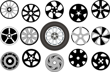 Wheel and wheel disks Stock Vector - 14234287