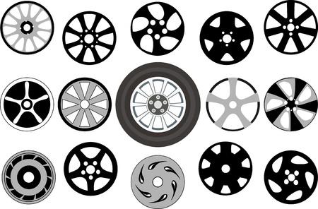 Wheel and wheel disks Stock Vector - 14234287