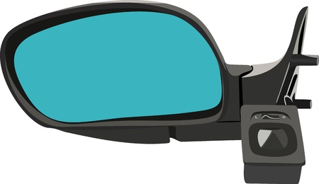 The car mirror isolated on white Stock Vector - 14671240