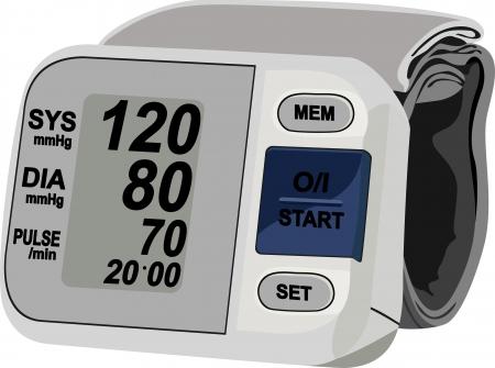 hypertensive: Digital blood pressure measurement equipment