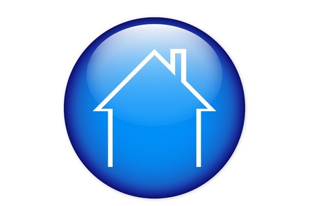 House icon isolated on a blue circle Illustration