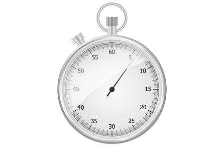 Beautiful stopwatch isolated on a white background Illustration