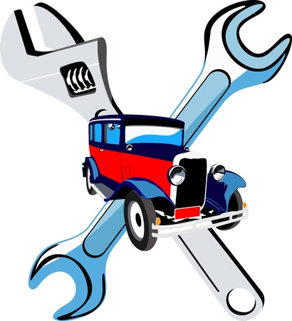Car repair service Vector