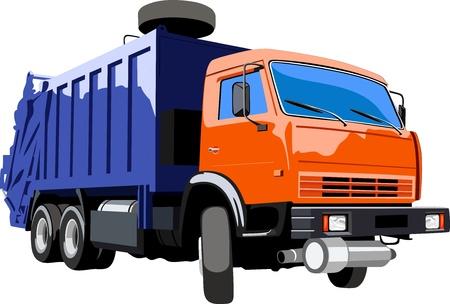 recolector de basura: Cami?n de basura