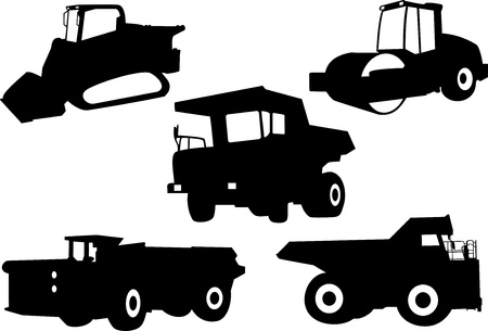 wheeled tractor: Trucks Illustration