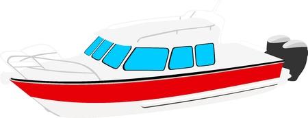 Modern boat  Illustration