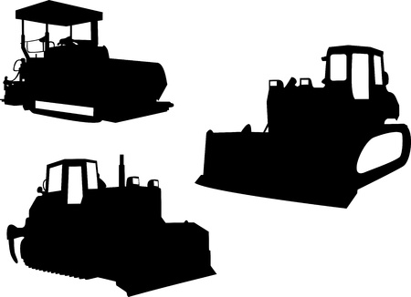 truck crane: Bulldozer