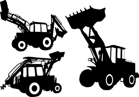 wheel loader: Strong tractors  Illustration