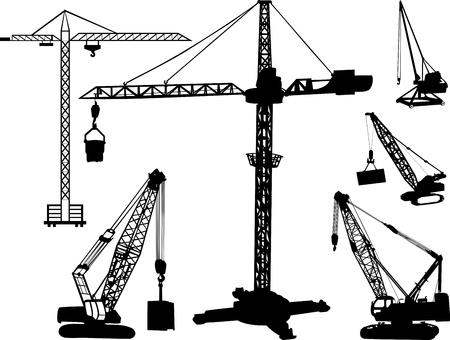 tow tractor: Cranes