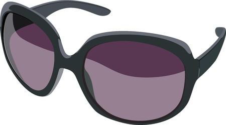 Glamour sunglasses Vector
