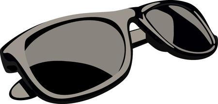sunglasses: Black sunglasses Illustration