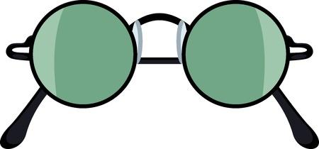 Round sunglasses Illustration