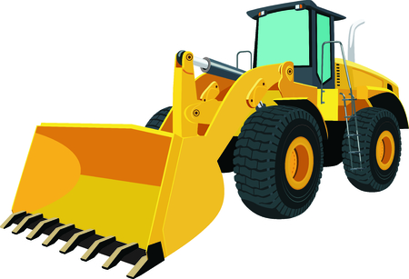 bulldozer: Bulldozer on wheels