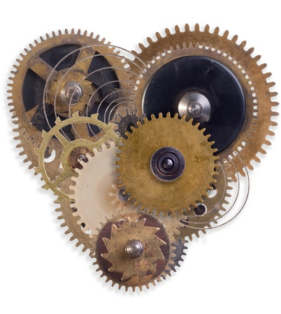 the mechanical heart made of small parts photo