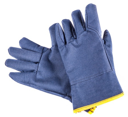 Work gloves with clipping path  Shot with an exposure that brings out the textile texture good detail  Stock Photo - 20682559