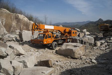 Granite quarry  Working mining machines  Mining industry
