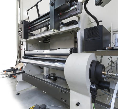 offset printer: Offset printer for labels and flexible packaging,  Stock Photo