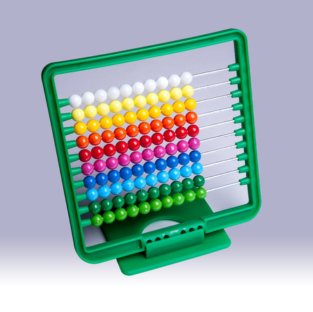 home schooling: Colourful plastic abacus for school and homework