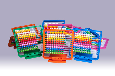 mathematician: Colourful plastic abacus for school and homework