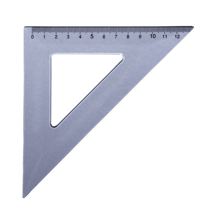 metric: Metric transparetn plastic triangle isolated with clipping path (wo shadow). Very high resolution and lot of details.