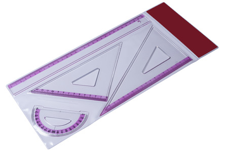 distant work: Plastic rulers for mathematics in school and homework