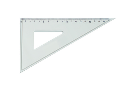 ruler: Plastic rulers for mathematics in school and homework