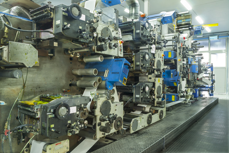 fragile industry: Industry Printing Press of labels for products